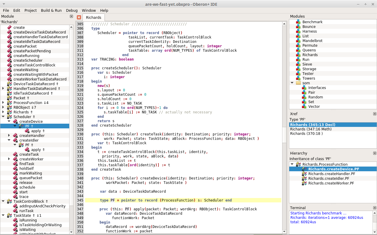 Screenshot of the Oberon+ IDE